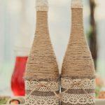 Бутылки шампанского с декором