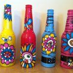 Бутылки с рисунками