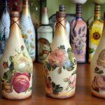 Розы на бутылках