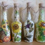 Подсолнухи на бутылках
