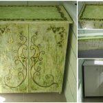 Зеленый шкафчик с узорами