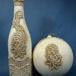 Бутылка и шар