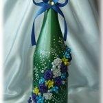 Применение полимерной глины для украшения бутылки