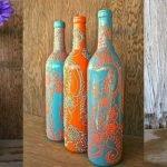 Окрашивание и роспись бутылок