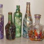 Как нарисовать рисунок на бутылках