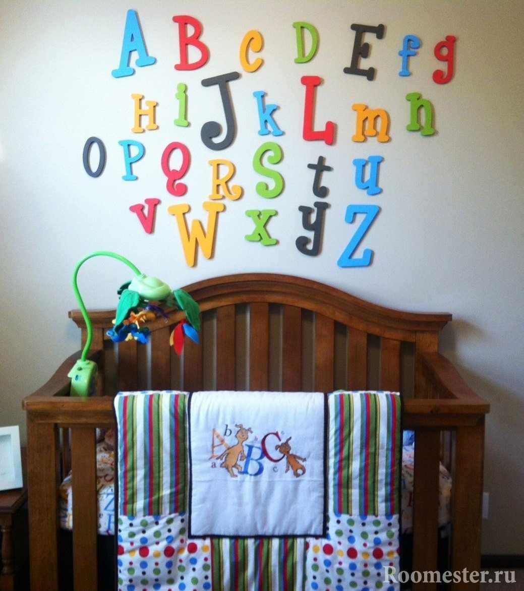 Клеящиеся буквы на стену