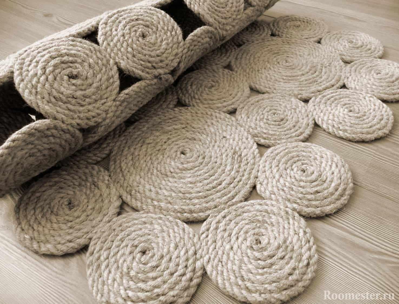 Джутовый прикроватный коврик