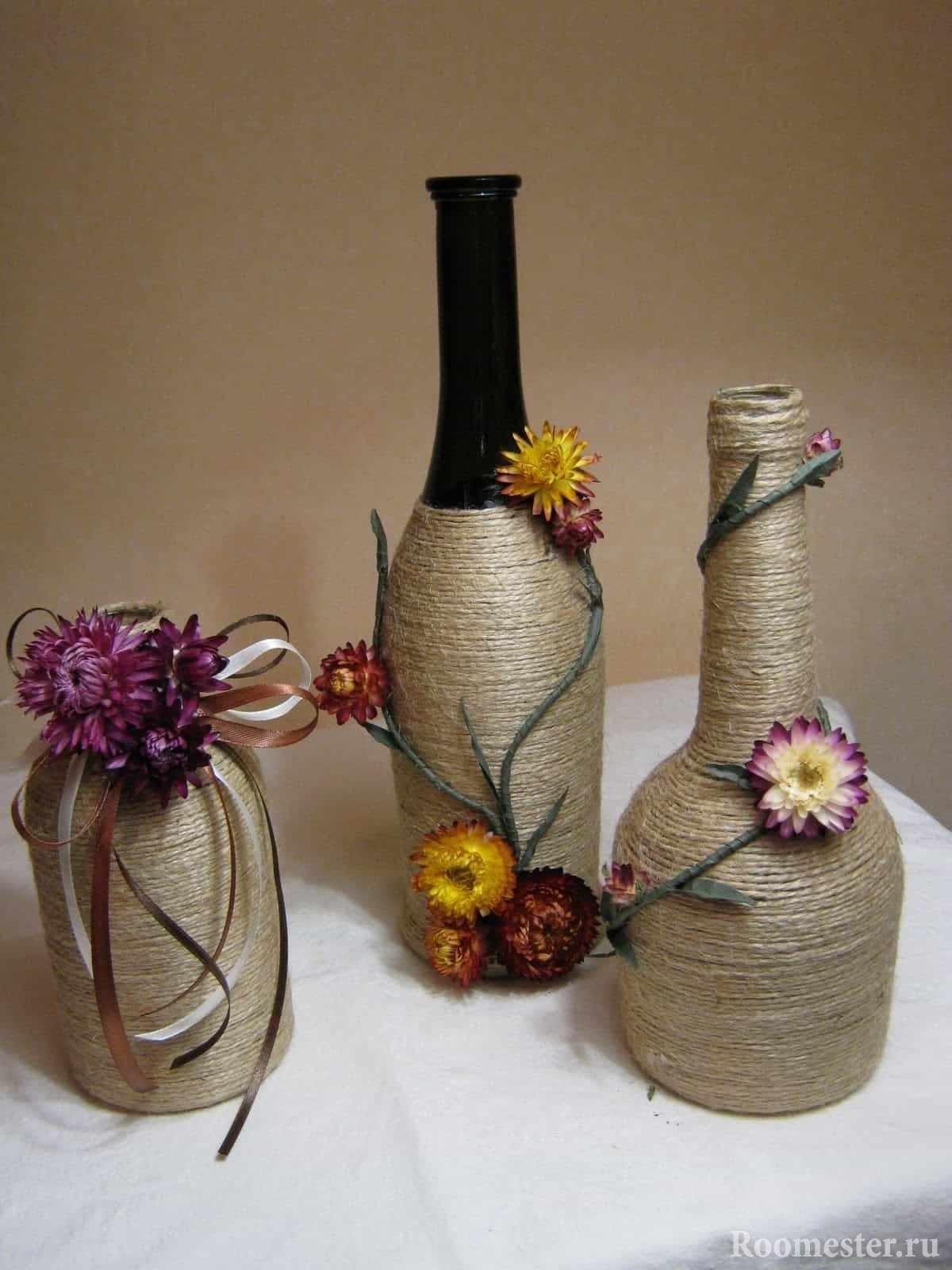 Декор винных бутылок