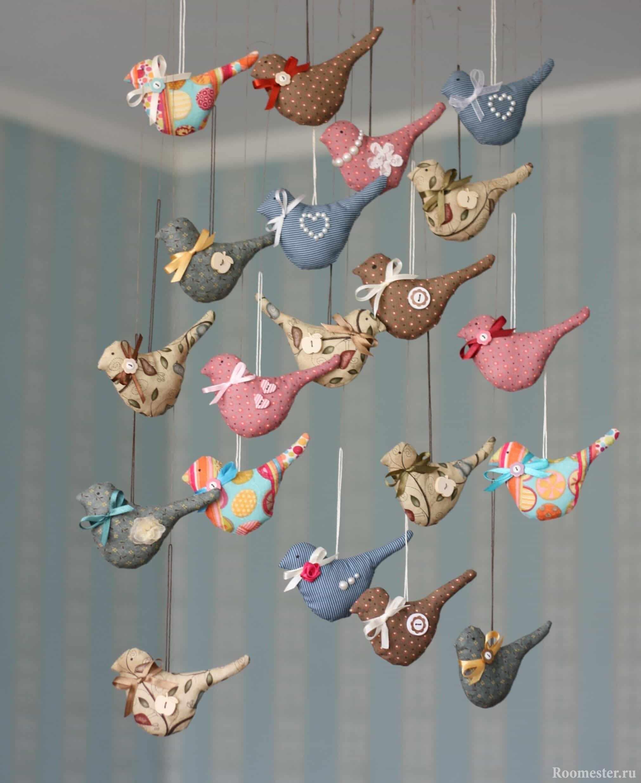 Свисающие украшения - птички