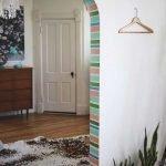 Покраска дверного проема