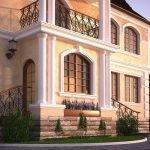 Фасад загородного особняка
