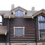 Декор дома под избу