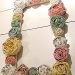 Рамка украшенная бумажными цветами