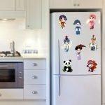 Мультяшные герои на холодильнике