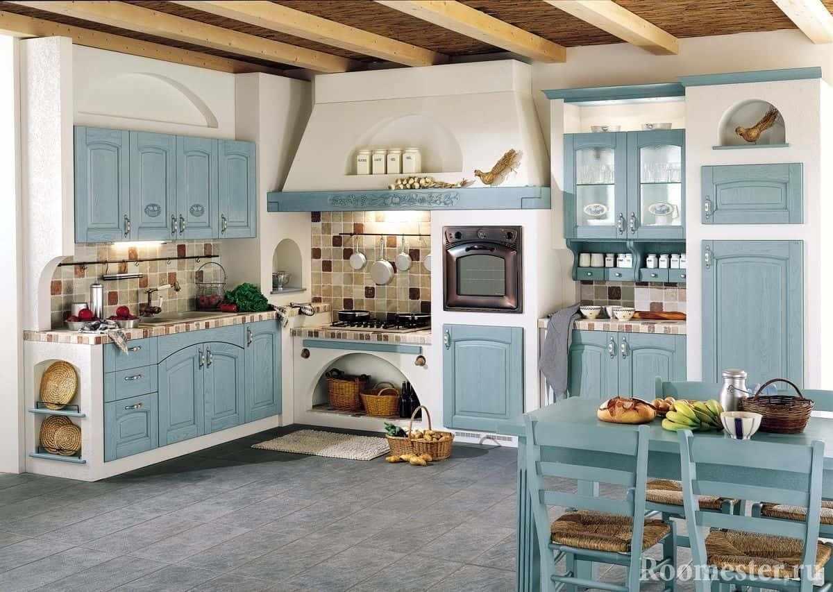Декор кухни в частном доме