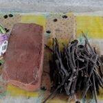 Веточки нарезаем длиной 10-15 см