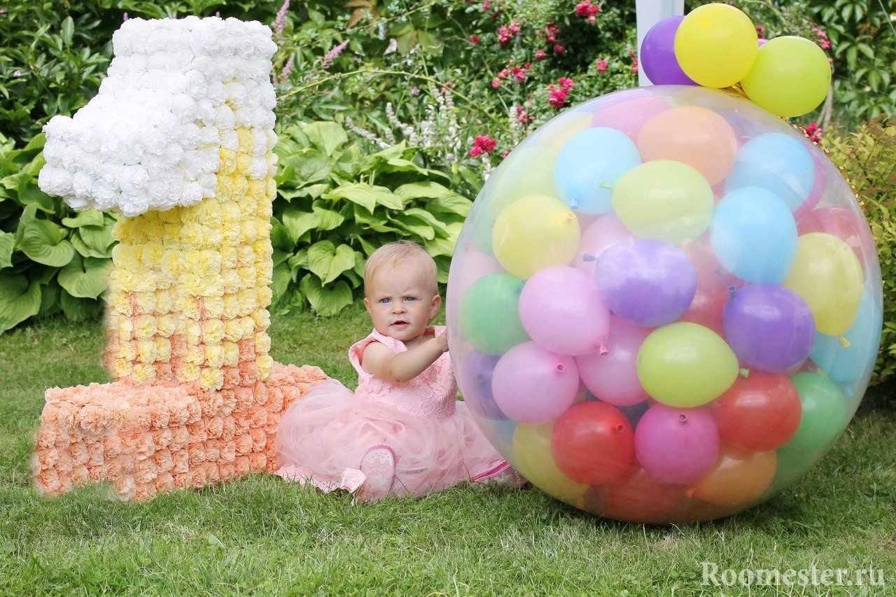 Декор из цветов и шаров
