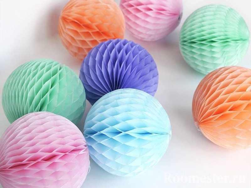 Светящиеся шарики из бумаги
