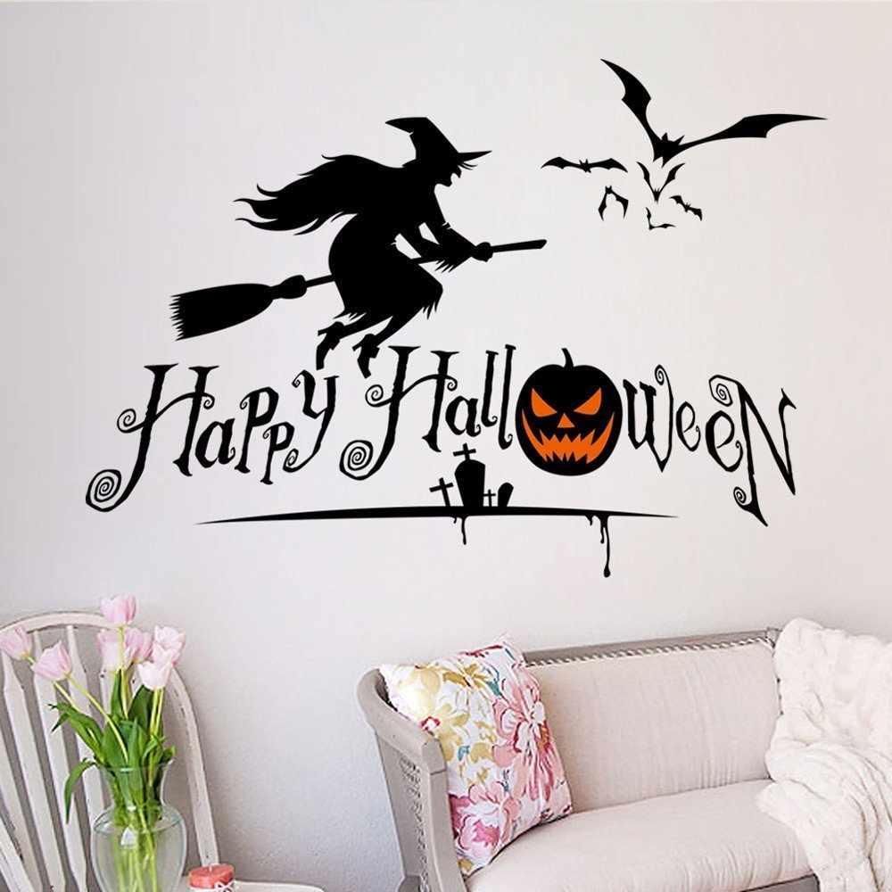 Оформление стен на хэллоуин