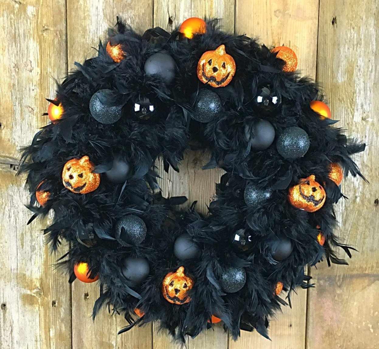 Венок на хэллоуин