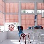 Розовые шторы в белом интерьере
