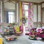 Дизайн гостиной в ярких цветах