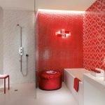 Стеклянная перегородка между душем и ванной