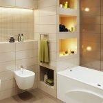 Ниши с подсветкой в ванной