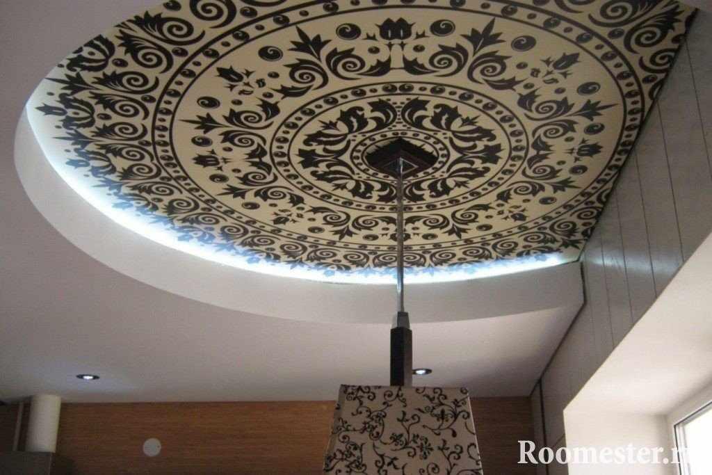 Самый легкий метод декупажа потолка после покраски