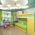 Оформление потолка гипсокартоном для детской комнаты