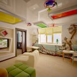 Идеальная поверхность многоуровневых потолков в детской комнате