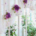 Цветы на занавесках