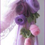 Розы из бантов