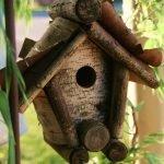 Домик для птиц из тополя