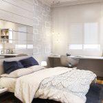Белый интерьер спальни