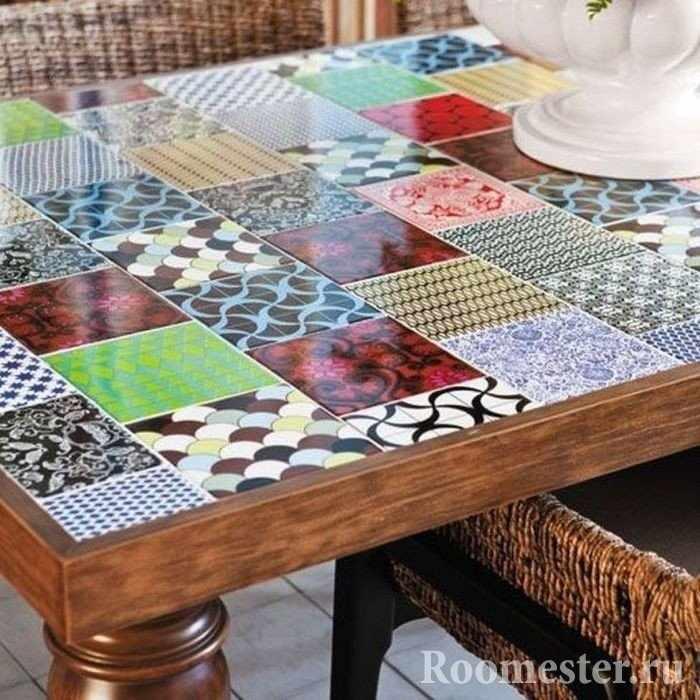 Стол из керамической плитки