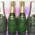 Сердца и кольца на шампанском