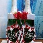 Сердца с именами на бутылках