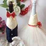 Шампанское в свадебных нарядах