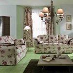 Цветочная мебель в гостиной