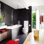 Черная плитка в интерьере ванной