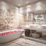 Узоры на стенах ванной
