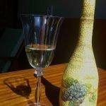 Виноград на бутылке