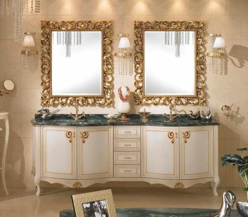 Декор зеркала сусальным золотом