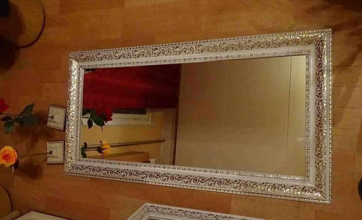 Зеркало с рамой из потолочного плинтуса