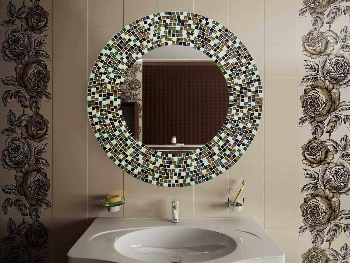 Декор зеркала в интерьере в стиле модерн