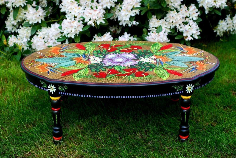 Ручная роспись столика