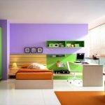 Сочетание зеленой и фиолетовой краски