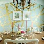 Бирюзовая с золотом краска для стен
