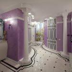 Фиолетовая декоративная штукатурка